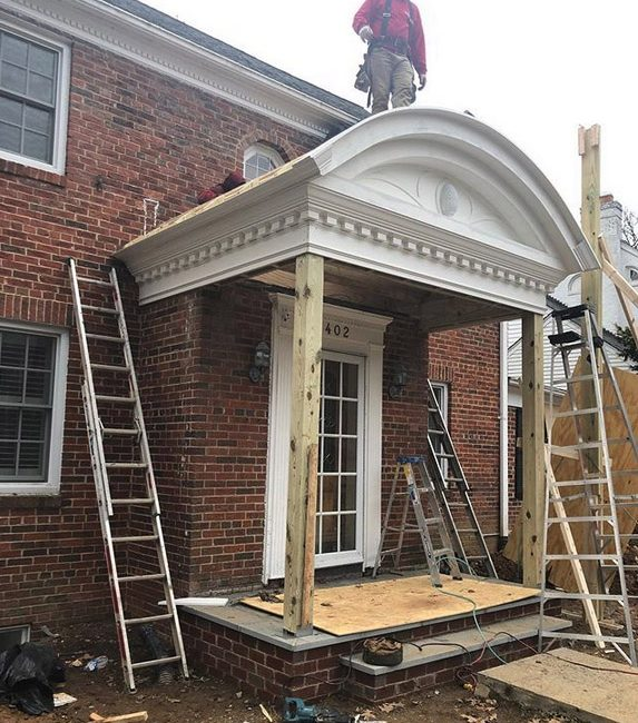 Our Custom Built Portico Is Almost Done Press And